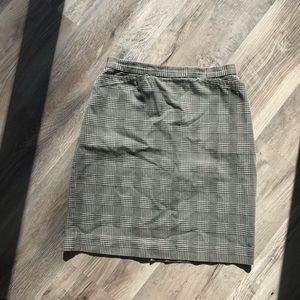 Vintage Pencil Skirt Houndstooth